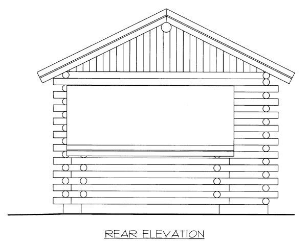 Log House Plan 86606 Rear Elevation