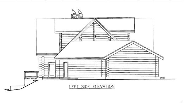 Log House Plan 86609 with 3 Beds, 4 Baths, 3 Car Garage Picture 1