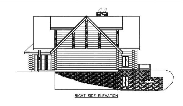 Log House Plan 86609 with 3 Beds, 4 Baths, 3 Car Garage Picture 2