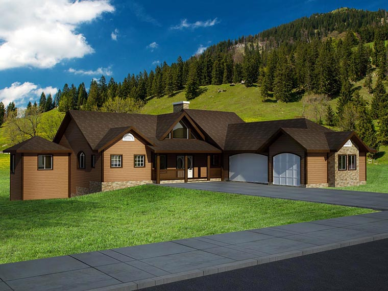 House Plan 86610 Elevation