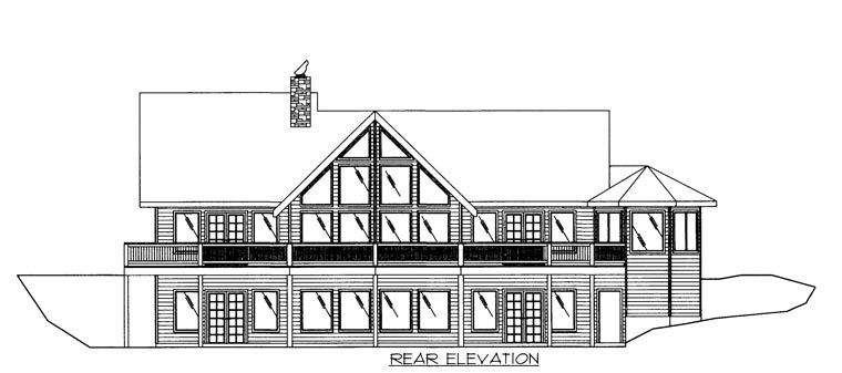 House Plan 86610 Rear Elevation