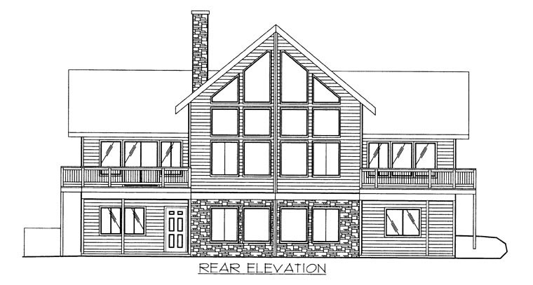 Coastal House Plan 86611 Rear Elevation
