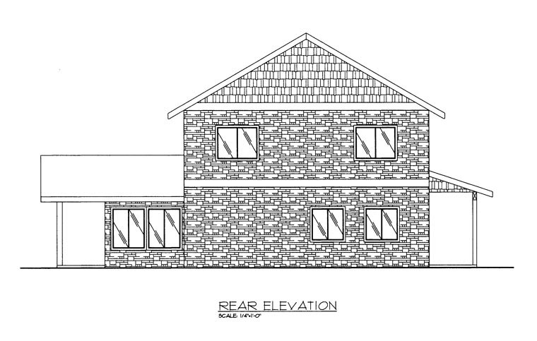 House Plan 86612 Rear Elevation