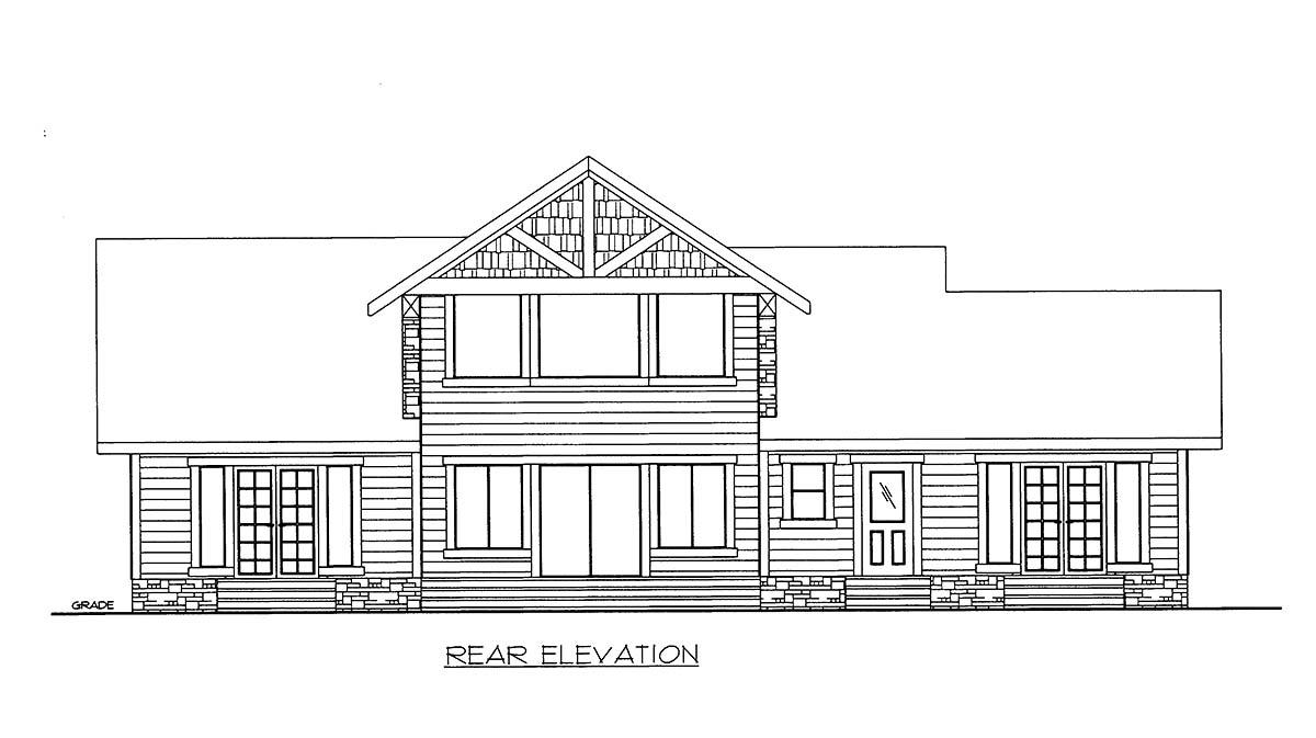 House Plan 86613 Rear Elevation