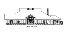 House Plan 86614 with 2 Beds, 3 Baths, 2 Car Garage Elevation
