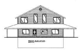 House Plan 86615 | Style Plan with 2842 Sq Ft, 3 Bedrooms, 2 Bathrooms Elevation