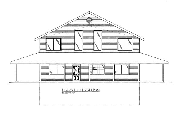 House Plan 86615 Elevation