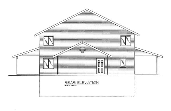 House Plan 86615 Rear Elevation