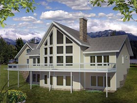 House Plan 86617 Elevation