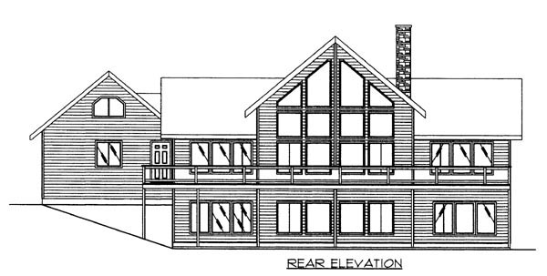 House Plan 86617 Rear Elevation