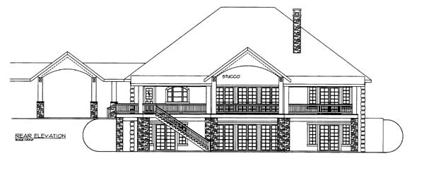House Plan 86618 Rear Elevation