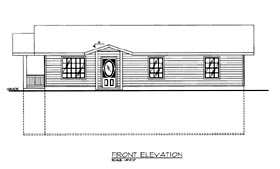 House Plan 86619 | Style Plan with 2816 Sq Ft, 3 Bedrooms, 2 Bathrooms Elevation