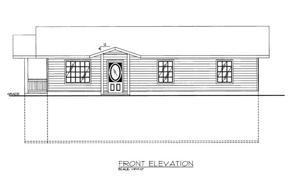 House Plan 86619 Elevation
