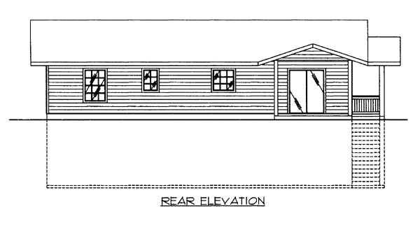 House Plan 86619 Rear Elevation