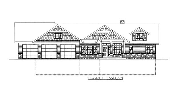 House Plan 86620 Elevation