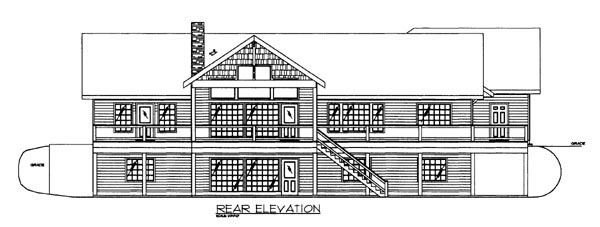 House Plan 86620 Rear Elevation