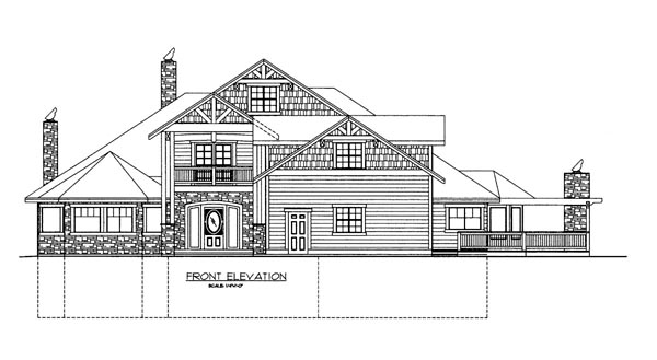 House Plan 86621 Elevation