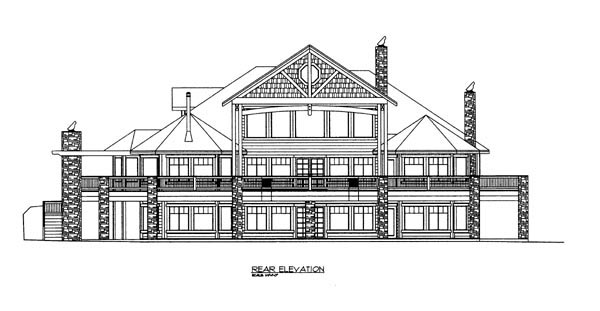 House Plan 86621 Rear Elevation