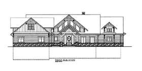 House Plan 86622 | Style Plan with 5316 Sq Ft, 3 Bedrooms, 4 Bathrooms, 3 Car Garage Elevation