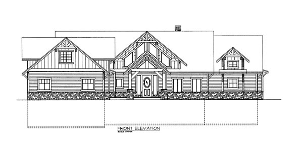 House Plan 86622 Elevation
