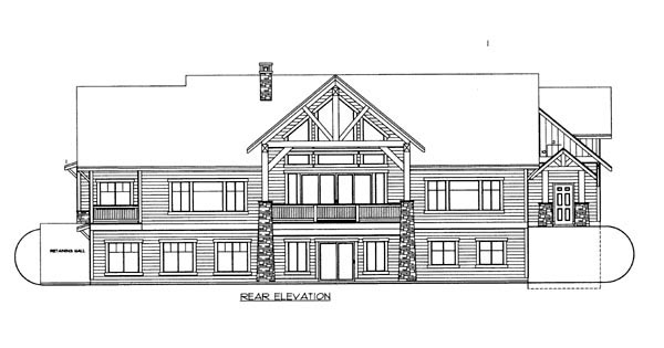 House Plan 86622 Rear Elevation