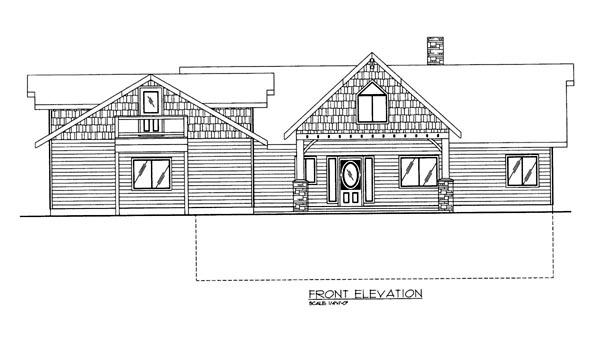 House Plan 86623 | Style Plan with 3685 Sq Ft, 2 Bedrooms, 3 Bathrooms, 2 Car Garage Elevation