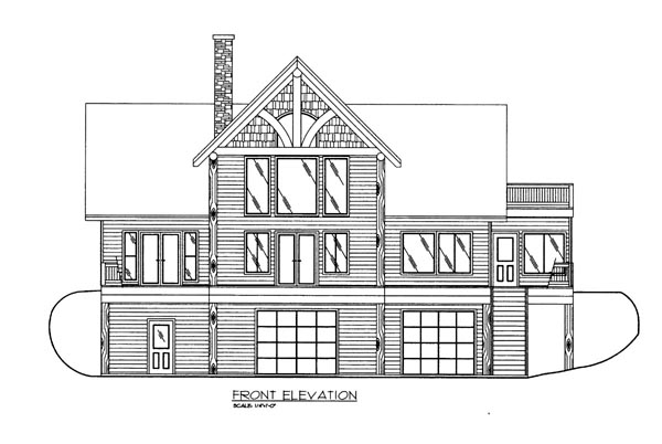 House Plan 86624 Elevation