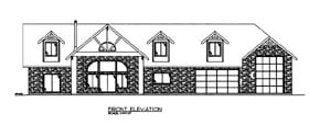 House Plan 86625 with 2 Beds, 3 Baths, 3 Car Garage Elevation
