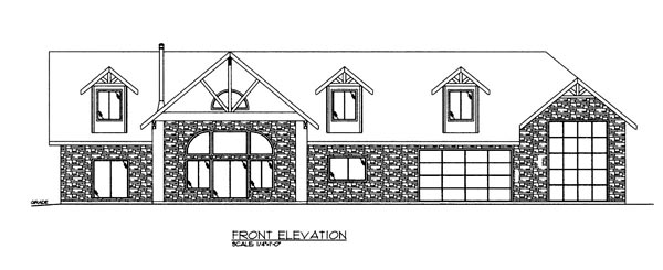 House Plan 86625 Elevation