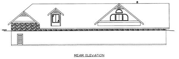 House Plan 86625 Rear Elevation