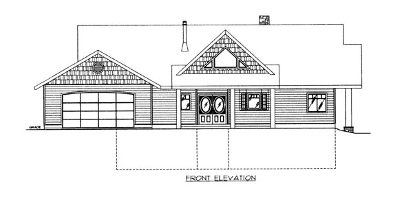 House Plan 86628 Elevation