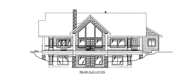 House Plan 86628 Rear Elevation