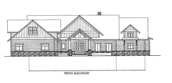 House Plan 86629 Elevation