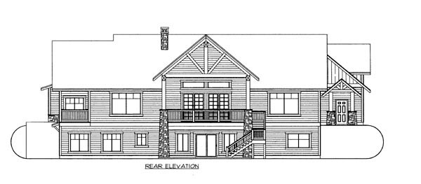 House Plan 86629 Rear Elevation