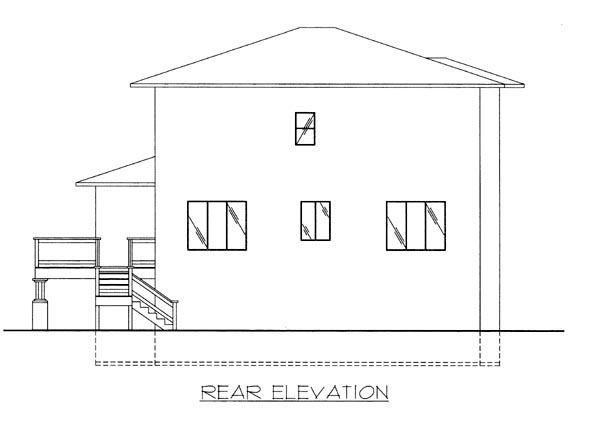 Southwest House Plan 86630 Rear Elevation