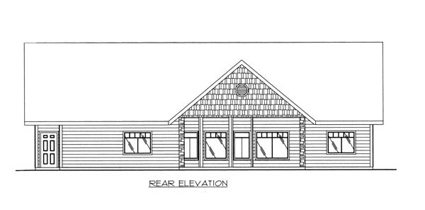 Traditional House Plan 86632 Rear Elevation