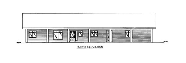 House Plan 86633 Elevation