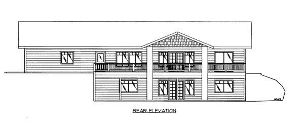House Plan 86633 Rear Elevation