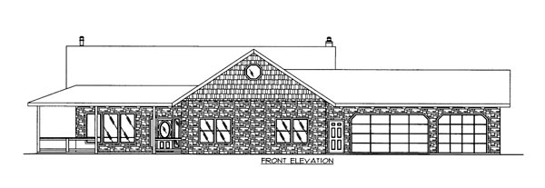 House Plan 86634 Elevation