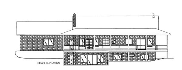 House Plan 86634 Rear Elevation