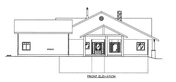 House Plan 86635 Elevation