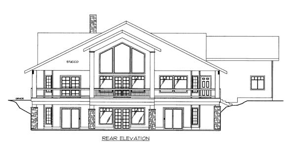 House Plan 86635 Rear Elevation