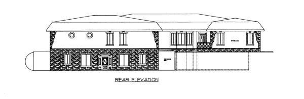 House Plan 86636 Rear Elevation