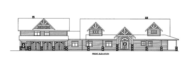 House Plan 86637 Elevation