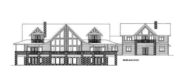 House Plan 86637 Rear Elevation