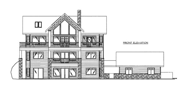 House Plan 86638 with 3 Beds, 4 Baths, 2 Car Garage Elevation
