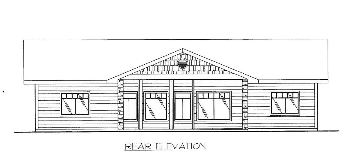 Craftsman House Plan 86639 Rear Elevation