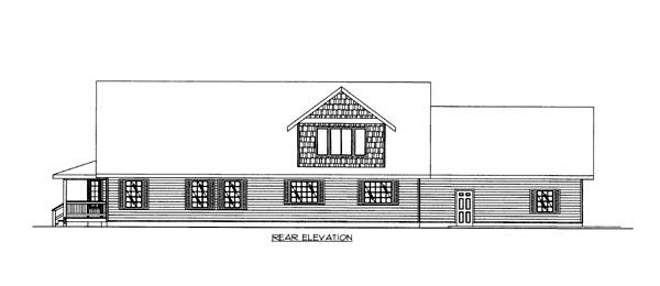 House Plan 86641 Rear Elevation