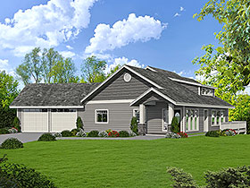 House Plan 86642 Elevation