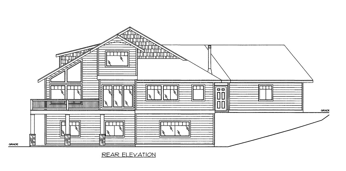 House Plan 86642 Rear Elevation
